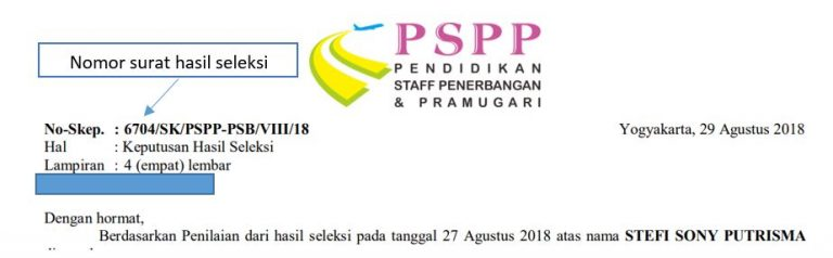 pspp nomor surat seleksi