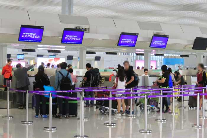 staff check in counter